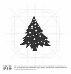 X-mas tree icon vector
