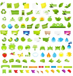Big Nature And Eco Set With Labels vector image vector image