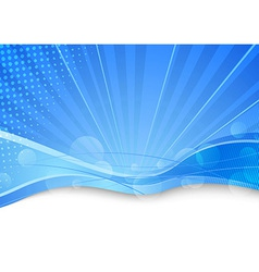 Blue transparent background template vector image vector image