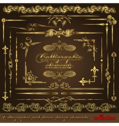 gold calligraphic vector image vector image