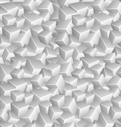 Grayscale Cubes Background vector image vector image