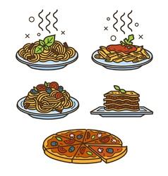 Italian cuisine colored vector image vector image