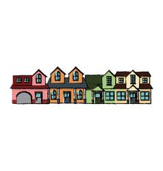 neighborhood residential building suburban home vector image