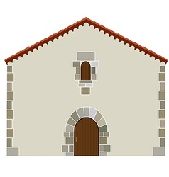 Spanish house vector image vector image
