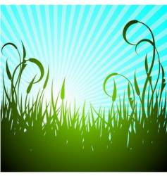 spring illustration with green flower vector image vector image