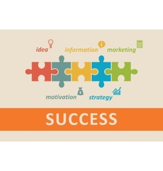 Success concept vector image vector image