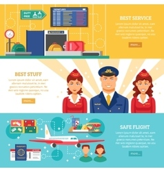 Airport Banner Set vector image vector image