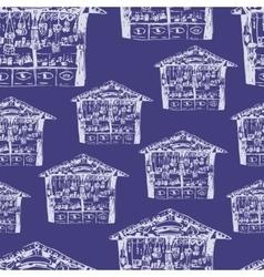 Christmas fair pattern vector