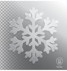 Glass transparent snowflake vector image