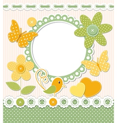 Retro frame and scrapbook elements vector image vector image