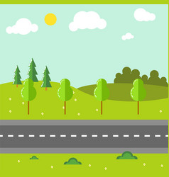 rural landscape with road vector image vector image
