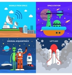 Space Concept Set vector image