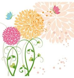 springtime background vector image vector image
