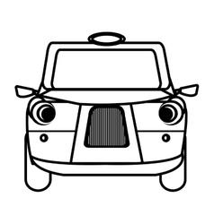white british cab graphic vector image