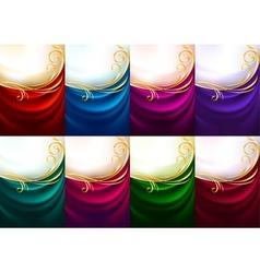Holiday backdrops - Set colored fabrics vector image vector image