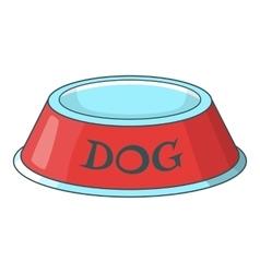 Pet dog bowl icon cartoon style vector image
