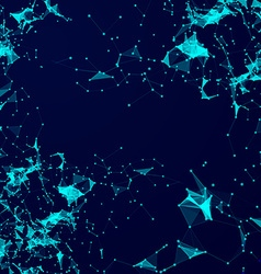 Virtual abstract background with particle molecule vector image