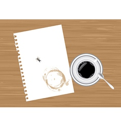 Coffee and paper vector image vector image