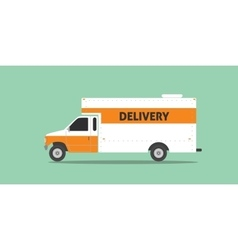 delivery truck van service car transportation vector image