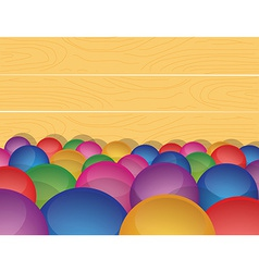 marble ball background in a wooden box vector image vector image