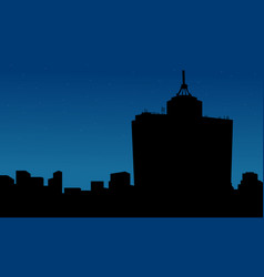 mexico city at night scenery silhouettes vector image vector image