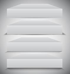 Set of 3d Box Shadows vector image vector image