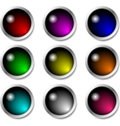 Set of glossy buttons for icons vector image