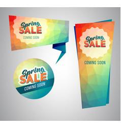 Spring sale tag vector