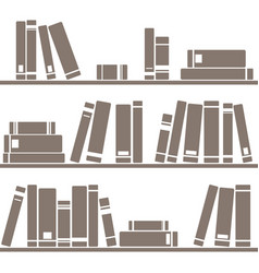 tile pattern with books on white background vector image vector image
