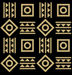Abstract geometric tribal mexican style seamless vector