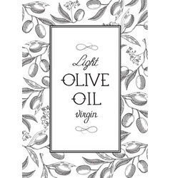 abstract light olive oil poster vector image