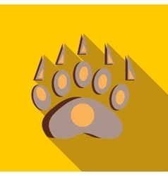 Bear footprint icon in flat style vector