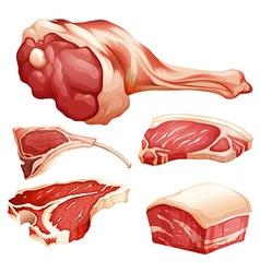 Beef set vector