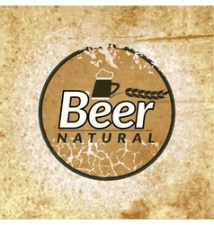 Beer vintage label vector