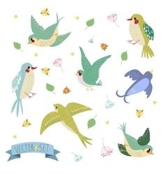 Bird on white background vector image