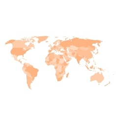 Blank political map of world vector image