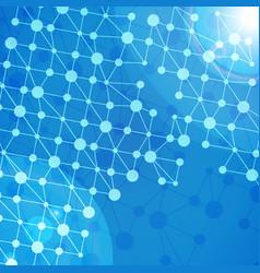 blockchain technology background vector image