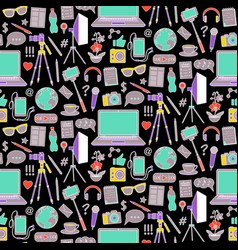 Blog seamless pattern vector