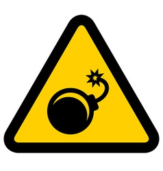 Bomb warning sign vector