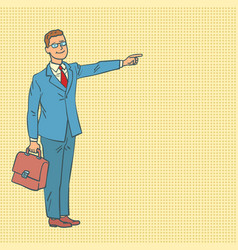 businessman points the way vector image