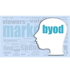 byod head profile icon woman head vector image