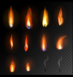 candle flame fired flaming candlelight and vector image