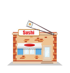cartoon sushi restaurant vector image