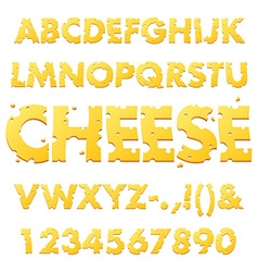 Cheese Alphabet Letters vector
