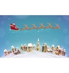 Christmas Santa Claus rides vector