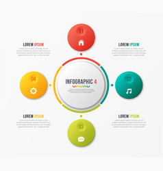Circle chart template with 4 options vector
