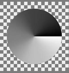 Circular monochrome gradation gray color gradient vector
