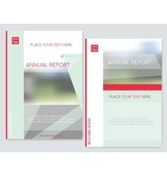 Cover design for Brochure leaflet flyer annual vector image