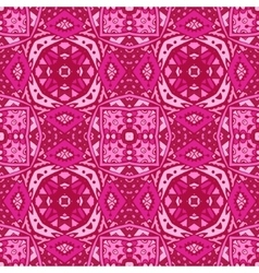 cute pink geometry ornament background vector image