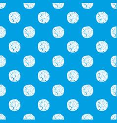 Deserted planet pattern seamless blue vector
